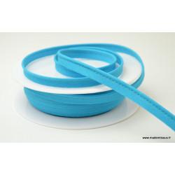 Passepoil 10 mm coton Bleu Petrole