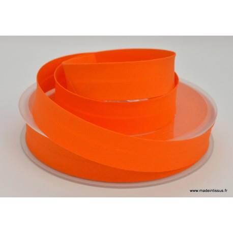 Biais replié 18 mm coton uni Orange