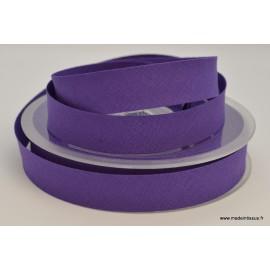 Biais replié 18 mm coton uni Violet