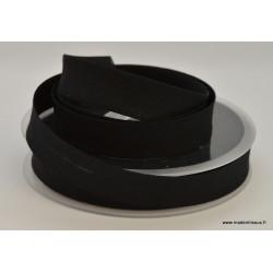Biais replié 18 mm coton uni Noir
