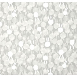 Tissu coton imprimé lapins argentés by Cotton and Steel .x1m