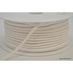 Cordon tressé 4mm coloris Blanc