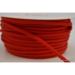 Cordon tressé 4mm coloris Rouge