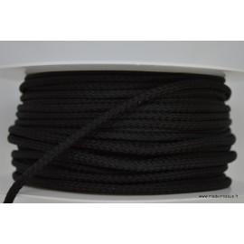 Cordon tressé 4mm coloris Noir