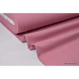 Tissu JERSEY coton élasthanne vieux rose13 x1m