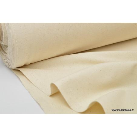 Tissu demi natté coton grande largeur Naturel x 1m