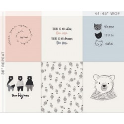 Panneau popeline imprimé Ours by Art Gallery Fabrics .x1m