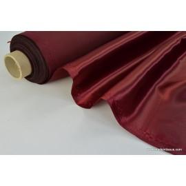 Doublure satin bordeaux polyester premier prix x50cm