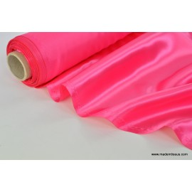 Doublure satin fuchsia polyester premier prix x50cm