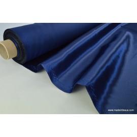 Tissu Doublure satin marine polyester premier prix .x1m