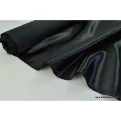 Tissu Doublure satin noir polyester premier prix .x1m