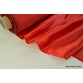 Doublure satin rouge polyester premier prix x50cm