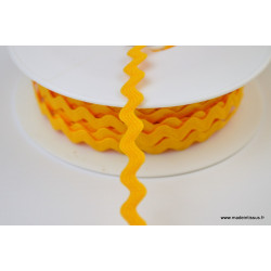 Serpentine Croquet uni Moutarde 9mm x1m
