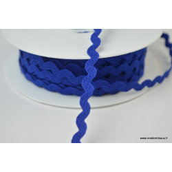 Serpentine Croquet uni Bleu Royal 9mm x1m