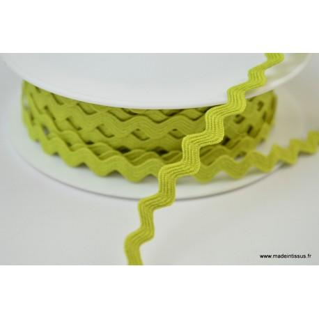 Serpentine Croquet uni Vert anis 9mm x1m