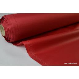 Tissu polyester rouge hermès déperlant pour parapluie