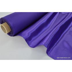 Tissu Doublure satin violet polyester premier prix .x1m