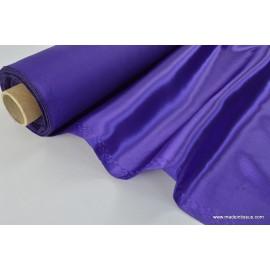 Doublure satin violet polyester premier prix x50cm