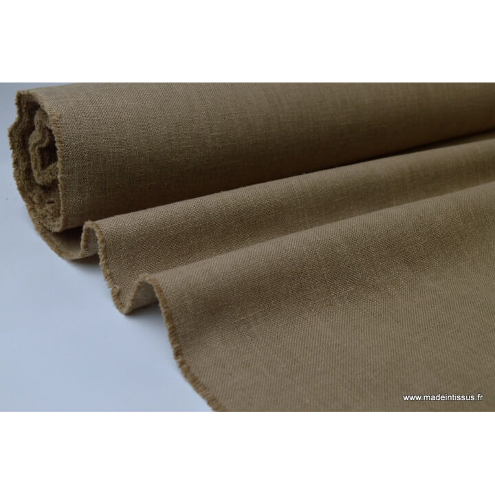 TOILE 517 aspect lin beige 65%pes 35%coton TEFLONx 1m