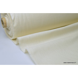 TOILE 517 aspect lin ecru 65%pes 35%coton TEFLONx 1m