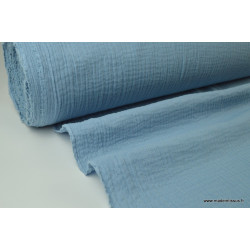 Tissu Double gaze 100% coton denim clair