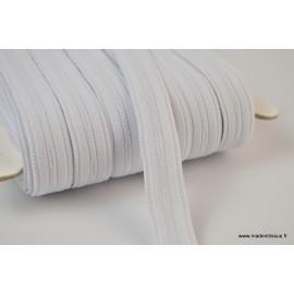 Boutonnière elastique 16mm coloris Blanc