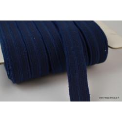 Boutonnière elastique 16mm coloris Bleu marine