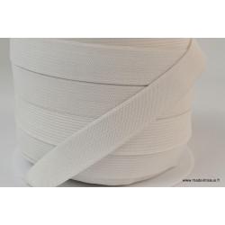 Elastique Maille 20mm Blanc