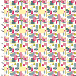 Tissu Coton imprimé formes géométriques multi by 3 Wishes .x1m
