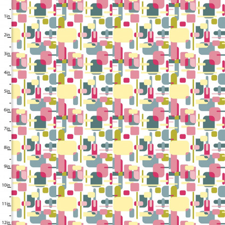 Coton imprimé formes géométriques multi by 3 Wishes .x1m