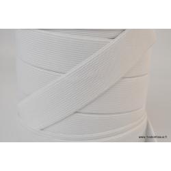 Elastique Maille 30mm Blanc