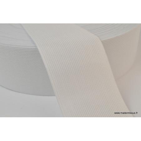 Elastique Maille 60mm Blanc