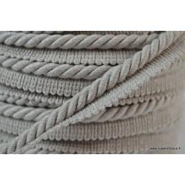 Passepoil en fibre de coton 5mm coloris Gris