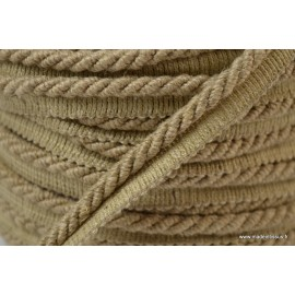 Passepoil en fibre de lin 5mm coloris Lin