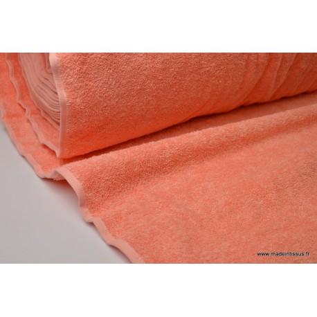 Eponge 100% coton corail lisiere cousue.