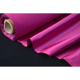 Tissu Satin duchesse polyester fuchsia .