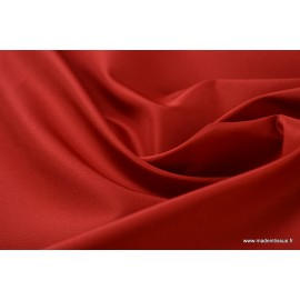 Tissu Taffetas changeant polyester rouge rouge