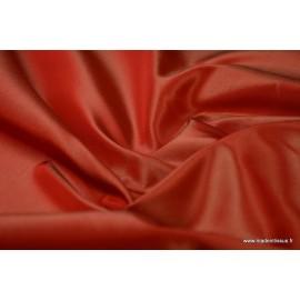 Taffetas changeant acetate rouge/ivoire
