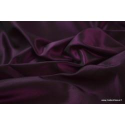 Tissu Taffetas changeant acétate noir fuchsia