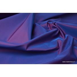 Taffetas changeant polyester bleu fuchsia
