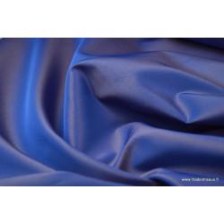 Tissu Taffetas changeant polyester bleu or