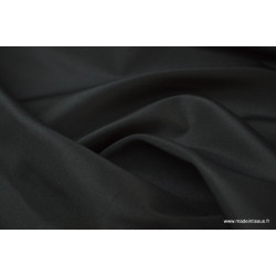 Tissu Taffetas changeant polyester noir