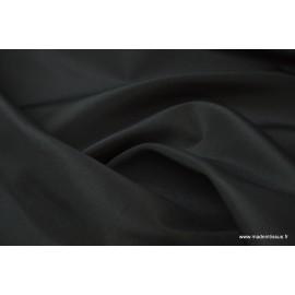 Taffetas changeant polyester noir