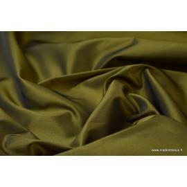 Taffetas changeant polyester noir jaune
