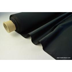 Tissu Satin duchesse polyester noir .