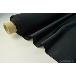 Satin duchesse polyester noir