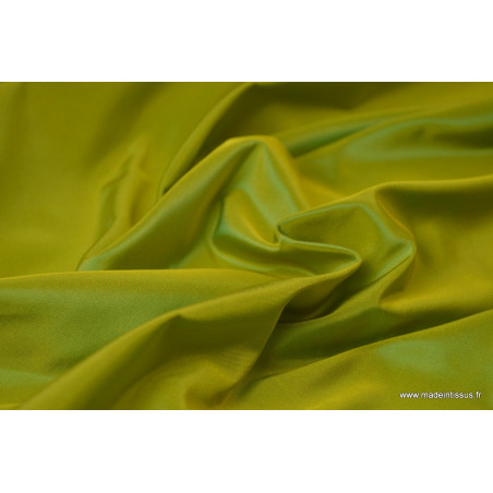 Tissu Taffetas changeant acétate jaune turquoise