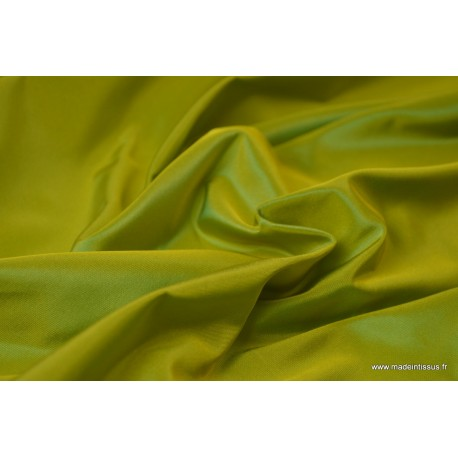 Taffetas changeant acétate jaune turquoise