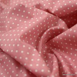 Tissu coton imprimé Pois
