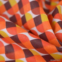 Tissu coton imprimé Vintage